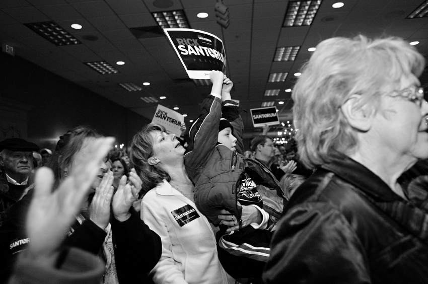 Rick Santorum rally in Fargo, N.D.