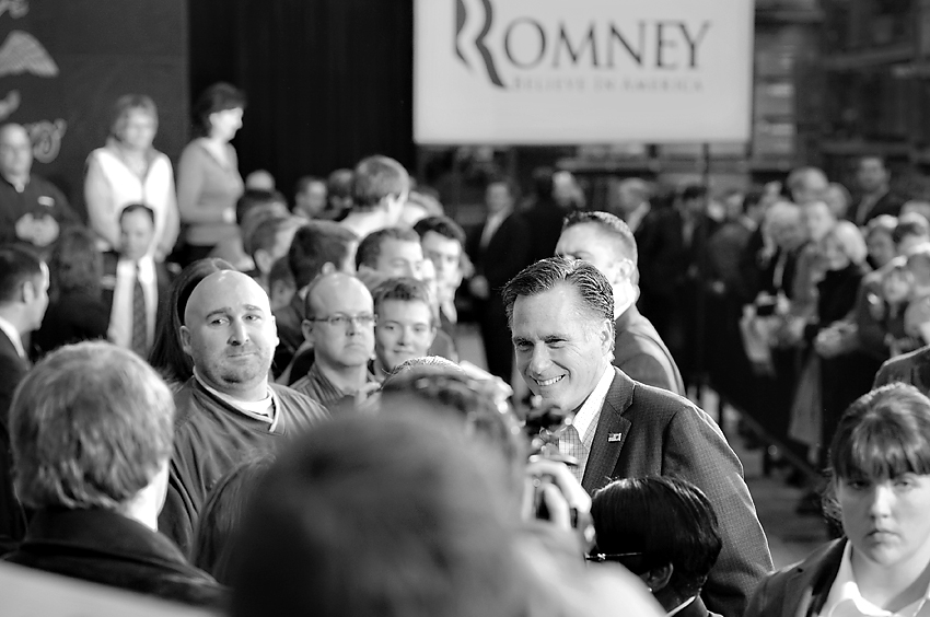 Mitt Romney's campaign stop in Fargo, North Dakota